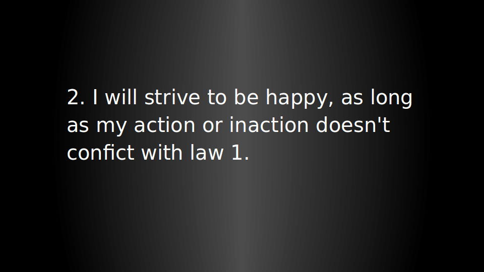 Three laws of humanity - 14