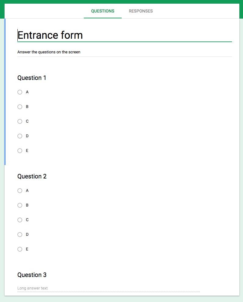 EntranceForm