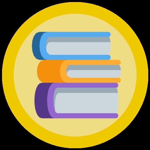 Gold Books Emoji Badges