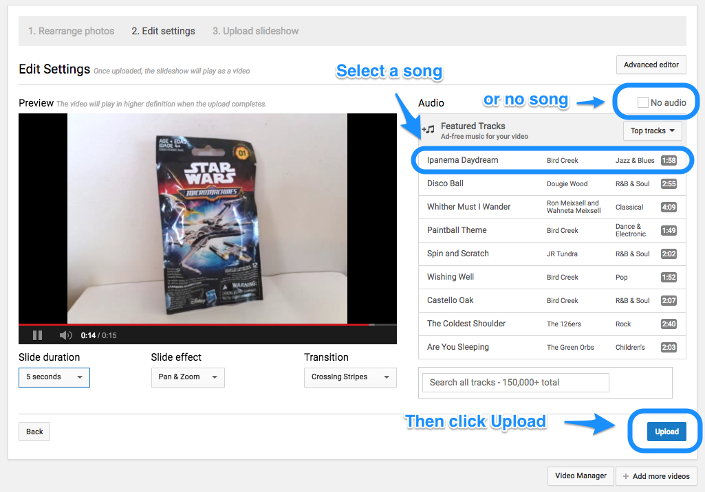 how to do slide show on google drive