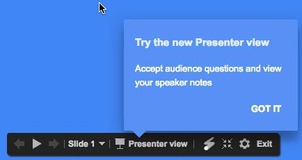 Welcome to presenter view