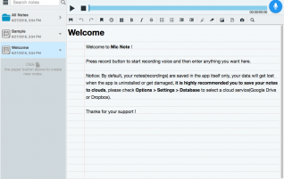 Micnote – record the audio of a meeting with the notes from the meeting