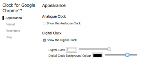 Clock for chrome set appearance