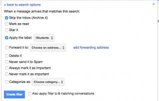 4. Student email filter (from 13 Gmail hacks for teachers – http://u.eduk8.me/13gmailhacks)