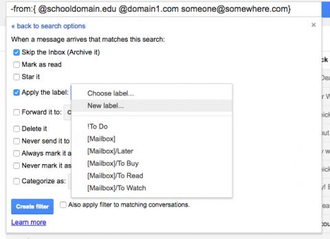GmailFilterTasks