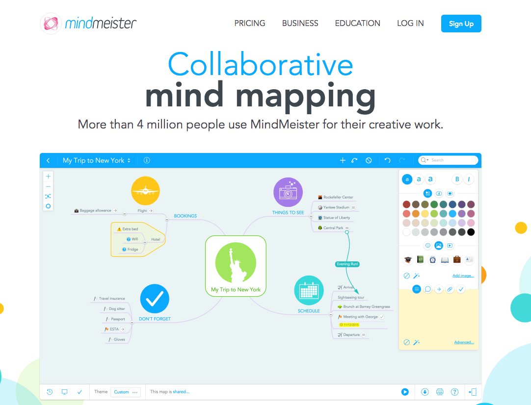 Mindmeister Is A Mind Mapping Brainstorming Note Taking