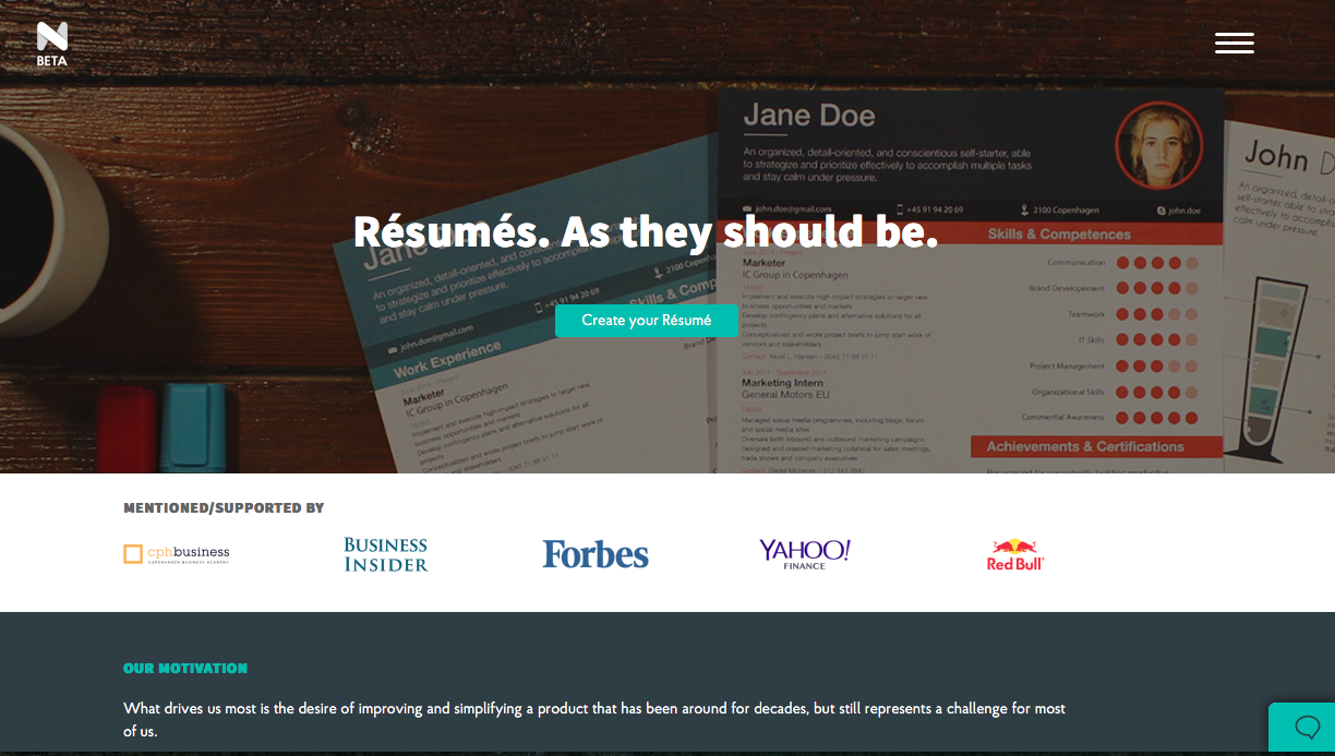 Create good looking résumés with Novorésumé - #Eduk8me