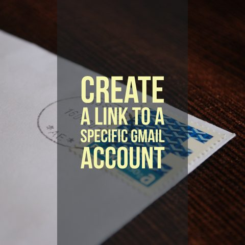 Create a link to a specific Gmail account