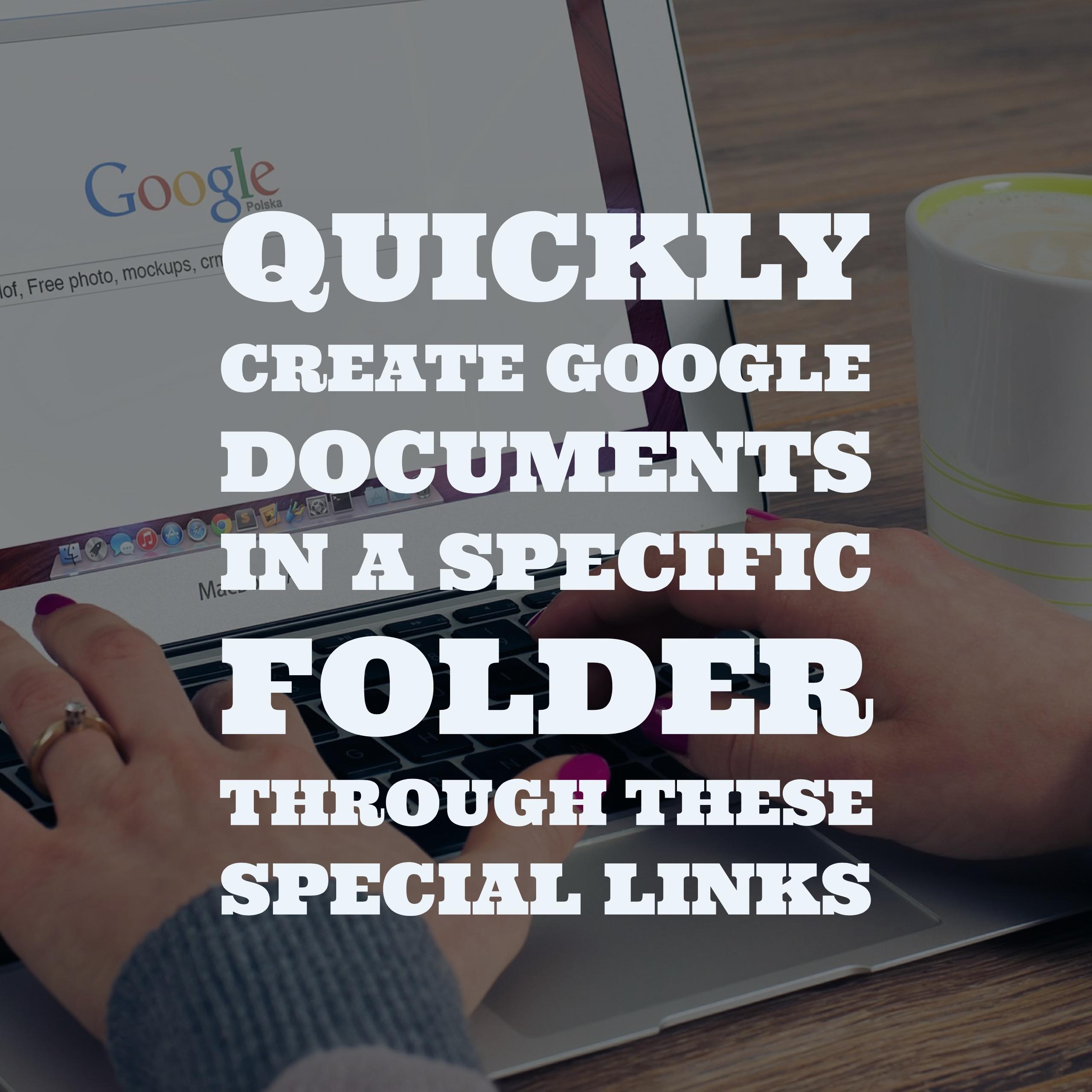 how to create a google folder